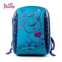 2018 Delune Embroidery Girls Boys Primary School backpack 3 5 Grade Schoolbag Children Orthopedic Waterproof Cartoon School bags