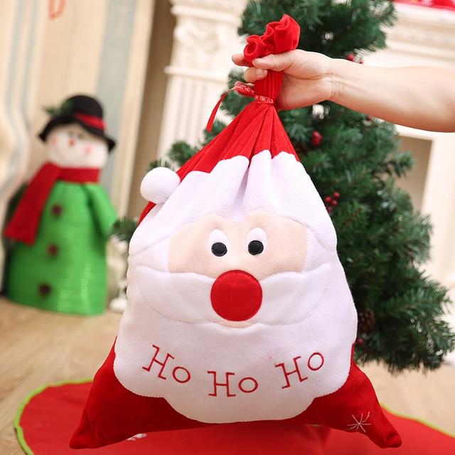 navidad hohoho large santa claus gift bag backpack christmas decorations for home new year new year - Christmas Decorations Large Santa Claus