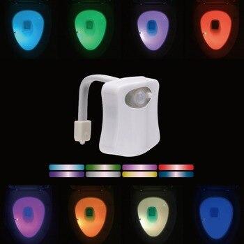 8 Colors LED Toilet Light Smart PIR Motion Sensor Light Control Night Light WC Toilet Bowl Seat Lamp for Children Kids Elderly wc light led motion sensor 8 colors automatic change toilet night light