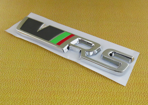 Auto car chrome VRS for Octavia Fabia Felicia Emblem Badge Decal Sticker auto chrome for 2008 2013 genesis front rear wing emblem badge sticker