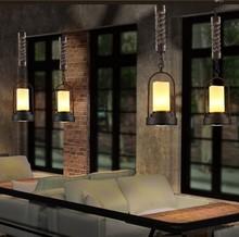 nordic vintage led pendelleuchten in stil loft industrielle lampe seil lamparas colgantes de techo fr bar restaurant haus esszi - Industrial Vintage Wohnhaus Loft Stil