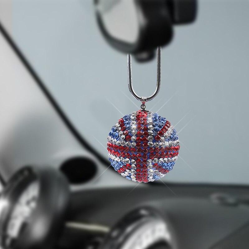 1 Uds colgante de bola de cristal para coche bandera británica decoración interior de coche espejo retrovisor para coche accesorios para BMW MINI cooper Correas de reloj Retro de cuero genuino para hombre y mujer, 18mm, 20mm, 22mm, 24mm, accesorios para Hebilla de Metal KZSD05