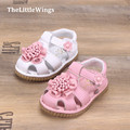 2016 summer new baby girls shoes outdoor genuine leather chaussure cute Flat toddler sandals Korean version of the British style