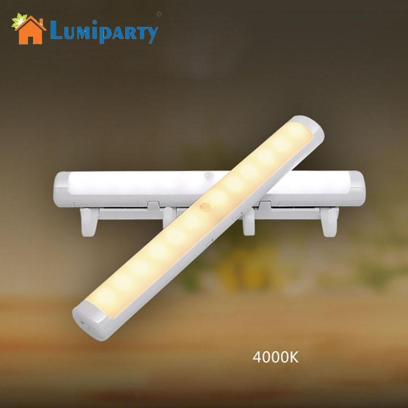 LumiParty LED Light Intelligent Human Body Induction Hook Lamp Corridor Cabinet Lamp