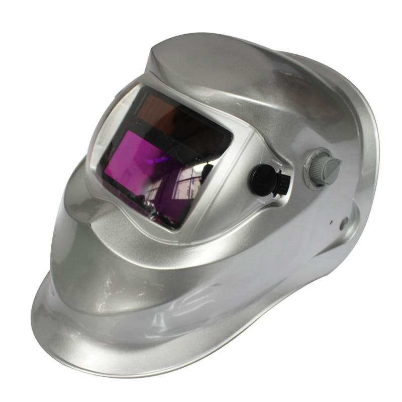 (tropfen Verschiffen) 2018 Neue Pro Solar Schweißer Maske Auto-verdunkelung Schweiß Helm Unregelmäßigen Silber Mit Den Modernsten GeräTen Und Techniken