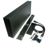King Size PCI E 1X To PCI e 16x slots Extension Riser card 1 to 2