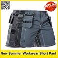 Alta calidad de hombre de verano de trabajo ropa de trabajo de múltiples bolsillos pantalón de trabajo de trabajo pantalones cortas envío gratis