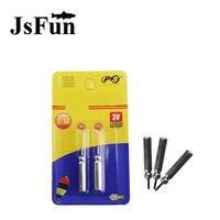 JSFUN 50PCS Pack CR425 Battery For Electronic Luminous Fishing Float Lithium Pin Cells Night Fishing Tackle
