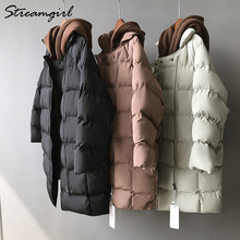 Streamgirl Winter Jacket Women Parka 2018 Quilted Hooded Parka Jacket Woman Winter Coats And Jackets Women Long Coats Ladies