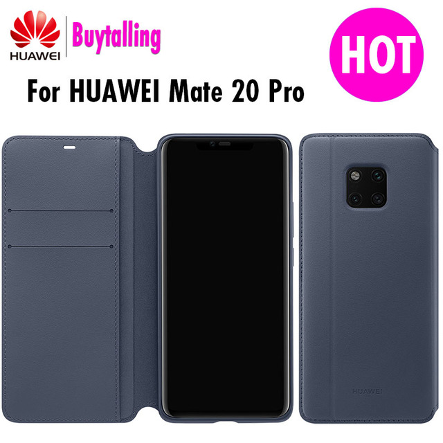 pretty nice 87e3b e2593 US $49.99 |Official Original Huawei mate 20 Pro Wallet case Ultra Slim PU  Leather Case For Mate 20 Pro Sleep Wake up Flip Cover-in Flip Cases from ...