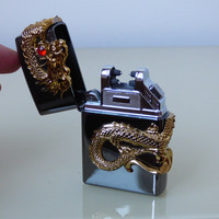 Mini Windproof Turbo Flower Design Lighter With Refillable Valve Metal Material