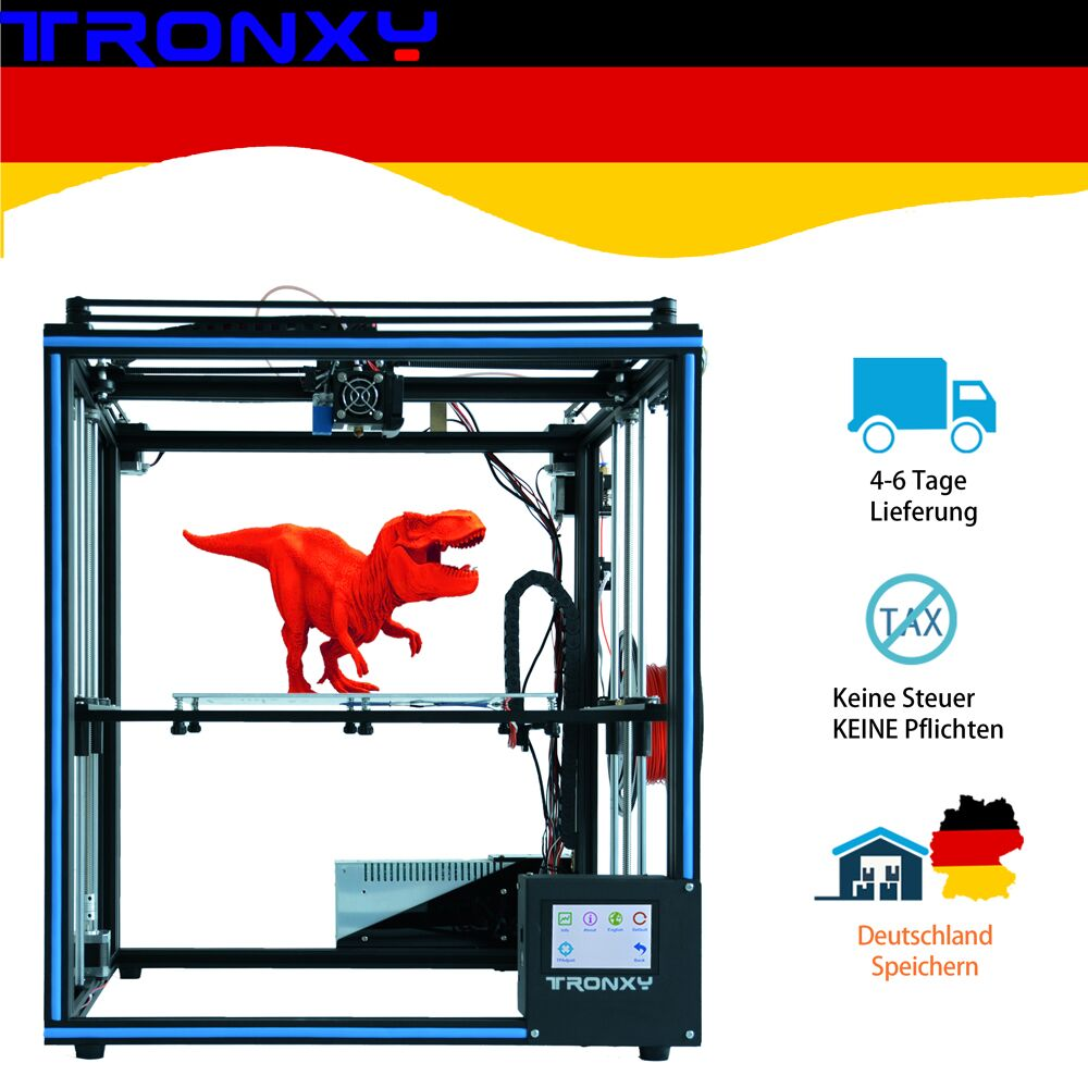 Upgraded Tronxy X5SA 3D Printer DIY Kits Touch Screen Auto Level Large Print Size 330 330mm