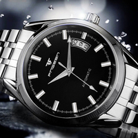 FNGEEN Men Luxury Automatic Mechanical Watches Male Business Designer Stainless Steel Band Wristwatch Waterproof Gift 6612G