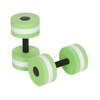 2PCS Aquatic Exercise Dumbells EVA Water Barbells Hand Bar For Water Resistance Aerobics