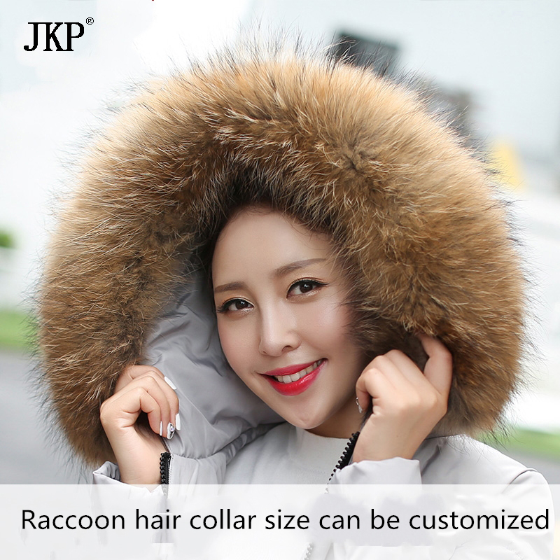 Real Raccoon Fur Collar Womens 100% Natural Fur Gray Collar Real Fur Shawl Raccoon collar Fur Scraves JKP1025
