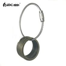 5PCS 1.1/28mm Alloy copper plating TA2 Split KeyRing Keychain EDC Camping Small Keyring circle,outdoor tools travel goods