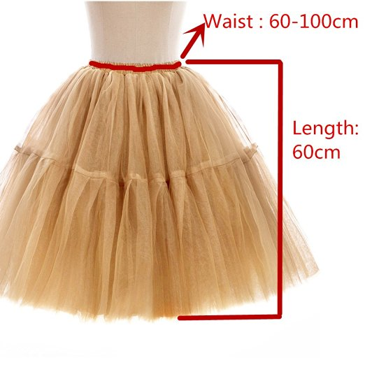 2019 Women A-Line Short 6 layers Petticoat Underskirt Bridal Tulle Petticoats  Wedding Dress Wedding Accessories