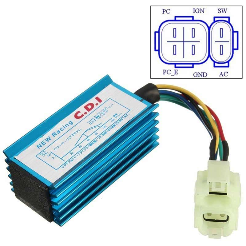 6 pin cdi box wiring diagram orbital for phosphorus new arrival performance racing ignition coil gy6 scooter moped 50cc 150cc ...