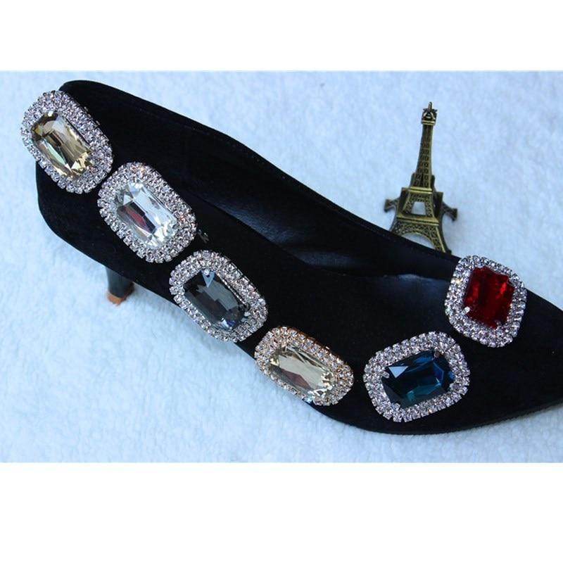 1pcs μεταλλικό γυαλί κράμα γυαλιού - Αξεσουάρ παπουτσιών - Φωτογραφία 2