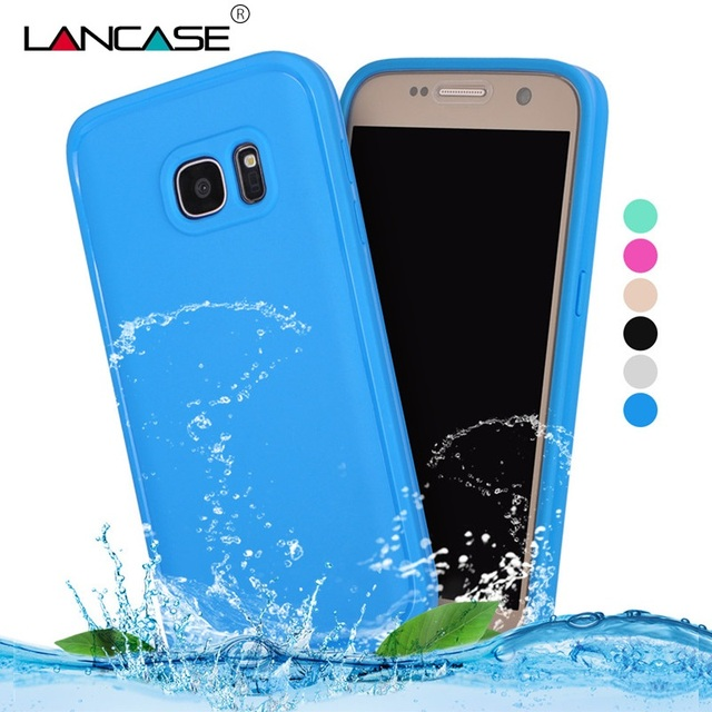 low cost e67b2 1c709 US $7.25 |For Samsung S7 Case Front Back 360 Full Protective Waterproof  Case For Cover Samsung Galaxy S7 Case Transparent Cell Phone Cases on ...