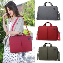 Laptop Shoulder Bag Travel Notebook Messenger Carry Sleeve Case for Dell Macbook Air HP 15.6 inch Womens Mens Handbag Briefcase