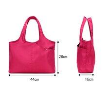 1 Pcs Women Lady Shoulder Bag Zipper Waterproof Solid Color Portable For Shopping Hot Sale