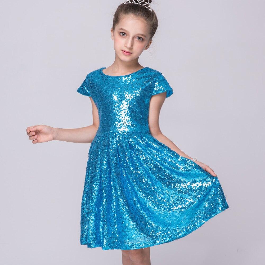 Online Shop Girls dress new cute sequins princess dress baby ...