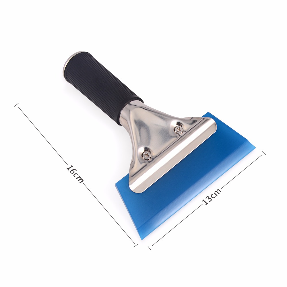 купить EHDIS Window Water Wiper Squeegee Handled Rubber Ice Scraper Blade Car Auto Snow Shovel Glass Car Cleaner Vinyl Tinting Tool по цене 339.31 рублей