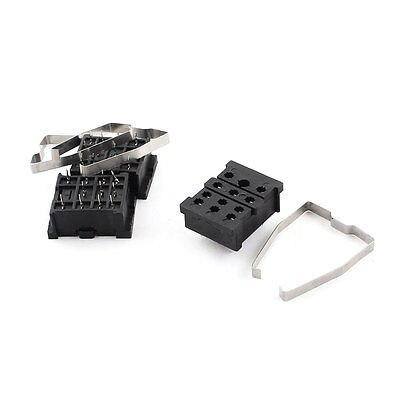 цена на 3 x PCB Board Mounted Soldering 11Pin Voltage Relay Socket Base Holder 10A 300V