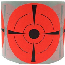 3 Round Adhesive Shooting Targets ,Target Pasters in Fluorescent Red and Black,250 per roll