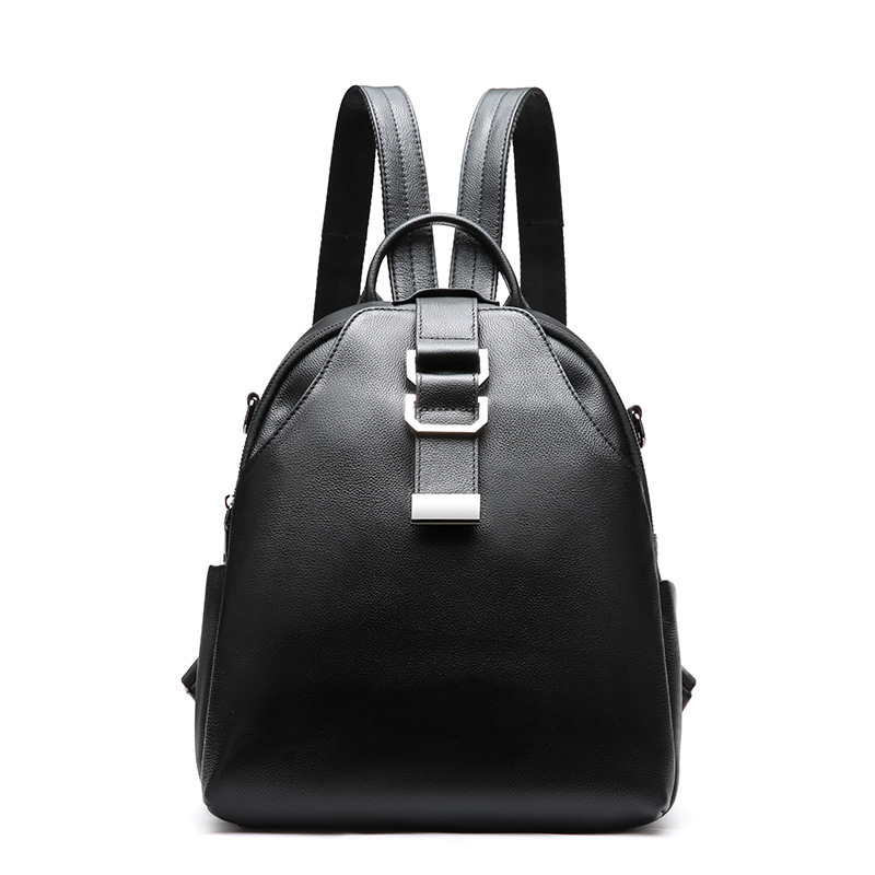 Fashion women backpack high quality genuine leather backpacks lychee pattern ladies backpacks casual black backpack woman high quality black letter pattern removeable wall stickers