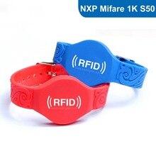 Силиконовые RFID Браслет RFID Браслет для контроля доступа с Оригинала MF1 S50 Чип-Бесплатная Доставка