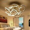 Современная модная Светодиодная потолочная лампа для спальни  гостиной  персонализированная потолочная лампа с затемнением для домашнего ...