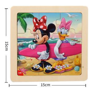Image 3 - דיסני קפוא מיקי מיני מאוס מודפס פאזל למידה חינוך מעניין צעצועי עץ לילדים ילדי מתנת Brinquedos