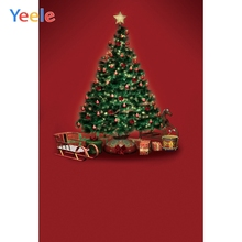 Yeele Professional Photography Backdrops Christmas Trees Red Curtain Baby Carriage Kid Photographic Backgrounds For Photo Studio yeele photography backdrops interior christmas trees gift vase pink wall professional photographic backgrounds for photo studio