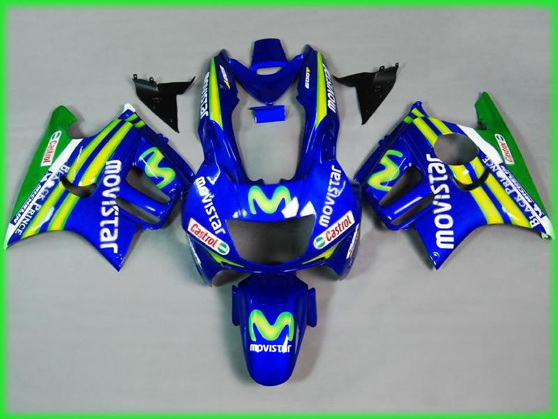 Motorcycle parts for HONDA CBR 600 F3 fairings 1997 1998 CBR600 F3 97 98 blue yellow movistar fairing kit  D9