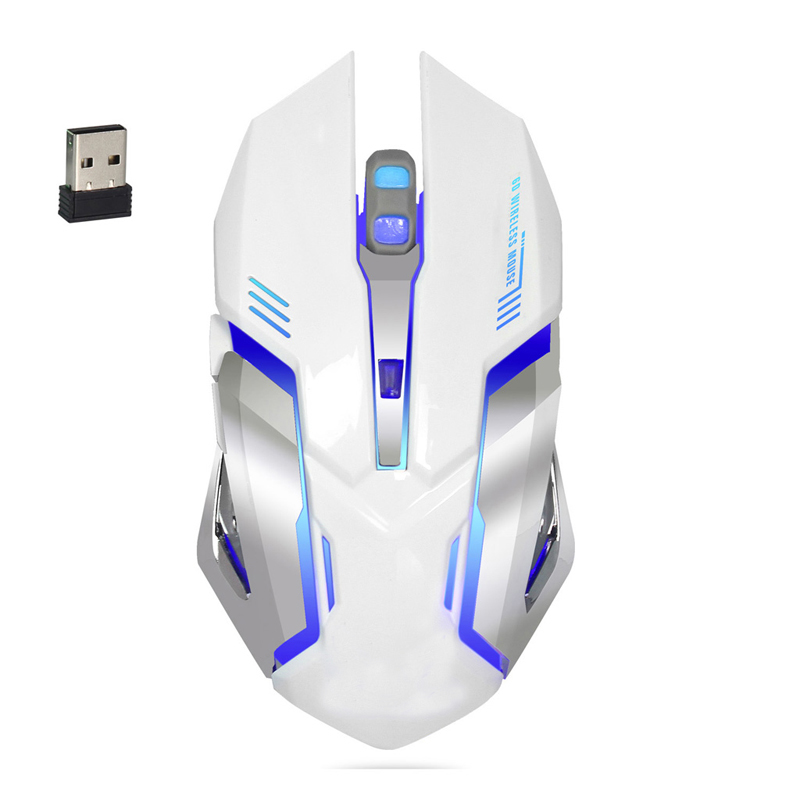 Wireless 2400DPI Gaming Mouse Rechargeable Battery 2.4G Gamer 6 Buttons Mice USA