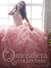 Pink Ball Gown Quinceanera Dresses 2017 Sweetheart Crystals Organza Prom Party Dress Vestidos De 15 Anos Sweet 16 Dresses QR152
