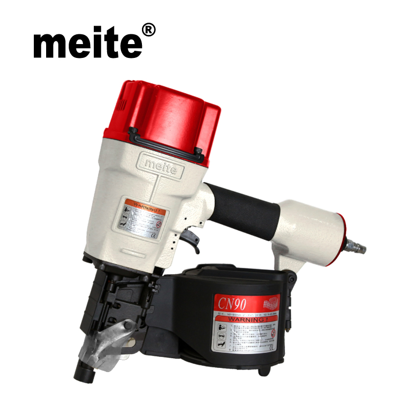 MEITE CN90 3 1/2 industrial coil nailer air gun Pneumatic coil nailer for wood pallets May.5th Update tool high quality cn55 industrial pneumatic coil nailer roofing air nail gun tool