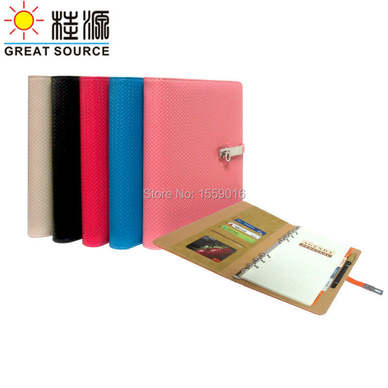 Great Kilde A5 Notebook Ring Binder Agenda med 2019 Kalender Notesblok Kawaii Stationery School Supplies