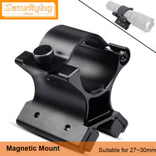 SecurityIng Flashlight Magnetic Mounting Bracket with Dual Magnets for 27-30mm Dim Range Assembly Tactical