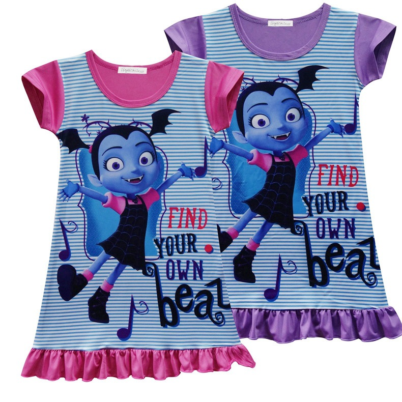 2018 new summer Lace Dress dress Cosplay Clothing Girls Vampirina Costume Little Girls Outfit