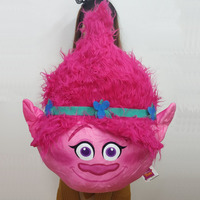 65cm=25.6'' Original Anime Trolls Plush Toys Huge Poppy princess Plush Pillow Cushion Soft Toy for girl gift