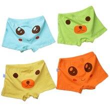 4pcs/Lot Cartoon Emoji Cotton Boys Briefs Boxers Soft Bear Print Underwear Shorts Boy Underpants Children Clothing