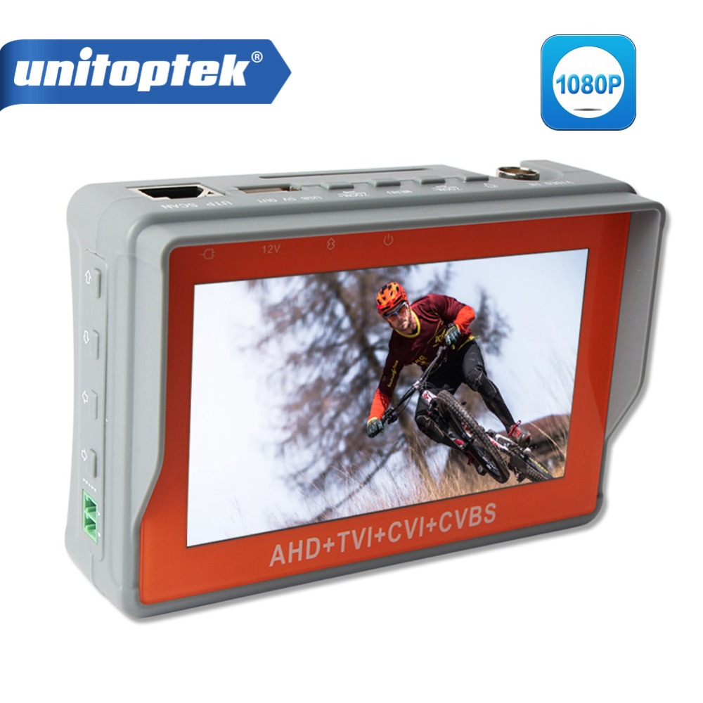 Здесь продается  1080P 2MP 4.3 Inch LCD Monitor 4 In 1 CCTV Tester For AHD TVI CVI CVBS Analog Camera Video Audio Test Security Camera Tester  Безопасность и защита