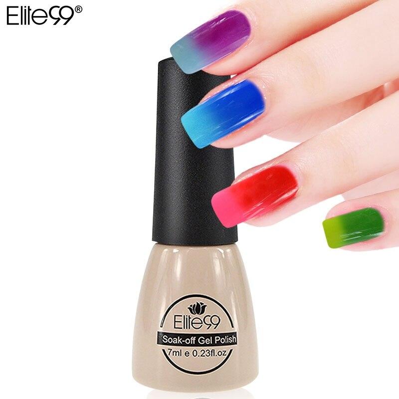 Color Changing Gel Nail Polish: Elite99 7ml Temperature Change Chameleon Color Changing UV