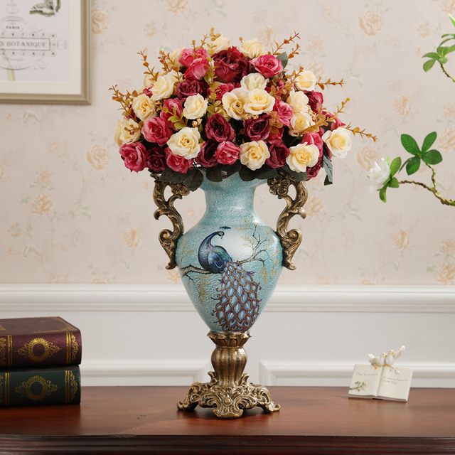 nieuwe amerikaanse bloemenvaas decoratie woonkamer tv kast accessoires woninginrichting europese tafel bloem decoratie