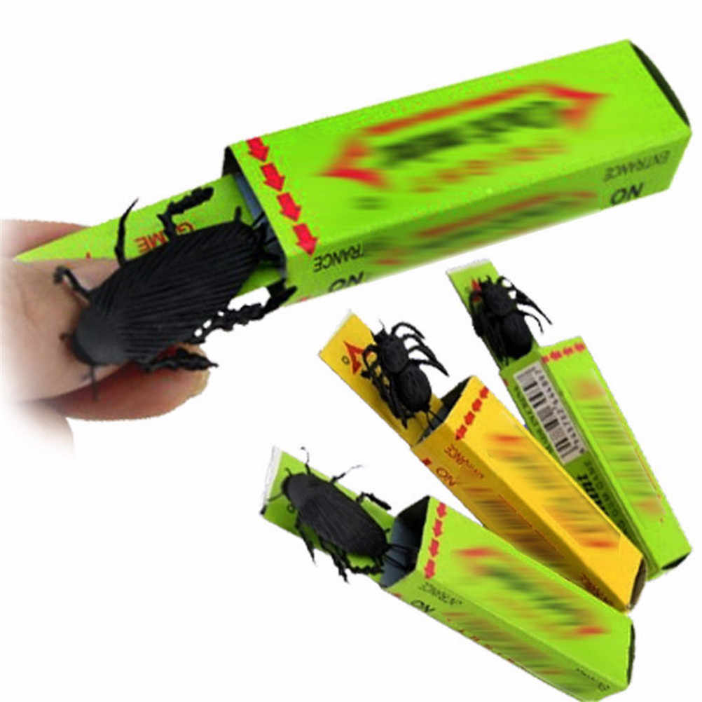 Surprised Cockroaches Gum April Fool's Day Spoof Person Funny Gadgets Tricky Toys Halloween Gift For Joke Prank  Spoof Toys
