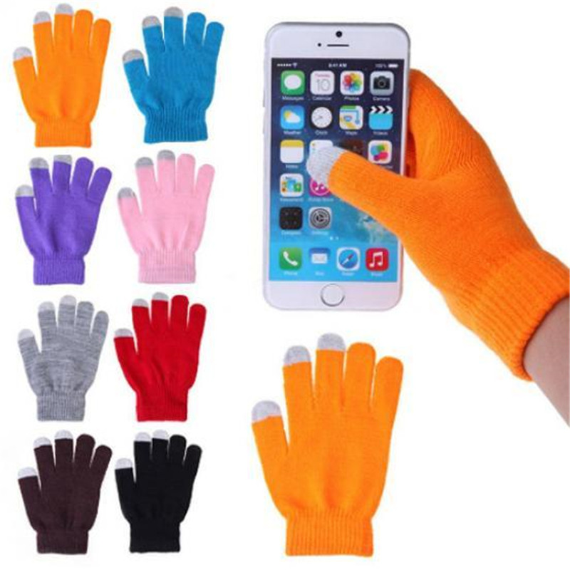 Wholesale&Retail Unisex Magic Design Touch Screen Glove Texting Smartphone Stretch Winter Knit Mittens Gloves