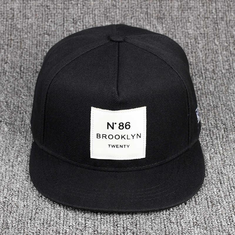 08fc5ec1 VORON Top selling N degree 86 Leather Label snapback hat unisex women men  cotton Fashion baseball cap wholesale